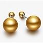 mode de vente chaude simples boucles d'oreilles perles de Viva femmes