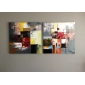 iarts®oil målningar uppsättning av 2 moderna abstrakt färgblock hand målade redo att hänga