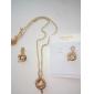 U7 lyxiga kvinnors orm hängande örhängen som 18k guld platina österrikiska Strass kvinnor