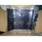 Merdia Dekoration 3D PVC kolfiber Film Wrap klistermärke för bil-Svart (50 x 20 cm)