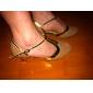 Chaussures de danse (Noir/Bleu/Marron) - Non personnalisable - Talon Large - Suédé - Moderne