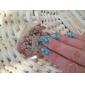 1st ny spik stämpling bildplatta mode spets blomma hjärta platta för diy nagel konst dekorationer (diverse mönster)