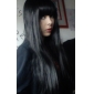 Perruques de lolita Gothique Noir Lolita Perruque Lolita  70 CM Perruques de Cosplay Couleur Pleine Perruque Pour