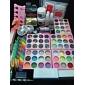 108pcs akryl uv pulver glitter lim nail art verktygslåda set