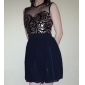 Women's Sexy Net Yarn Splicing Sequins Chiffon Dress