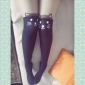 Chaussettes/Bas Doux Lolita Lolita Rouge Blanc Noir Bleu Encre Accessoires Lolita  Bas Imprimé Pour Femme Velours