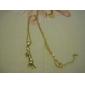 söt 18k guldpläterad platina gullig pottkatt hängsmycke örhängen rhinestone