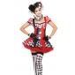 Cosplay Kostymer/Dräkter / Festklädsel Burlesk/Clown Halloween Kostymer Röd Lappverk Klänning / Huvudbonad / Armband / Handskar / Halsband