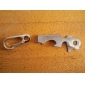 8-i-1 multifunktionella mini silver nyckelverktyg (slumpvis färg)