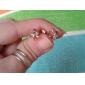 Jian Feng conception unique Zircon or 18K Boucles d'oreilles ERZ0183