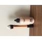Flame Shape Nylon Powder Brush (Guld)