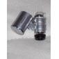Super Mini 60x mikroskop med 2-LED-belysning + pengar / valuta detektera UV-ljus (3 * LR1130)