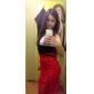 Guler rotund femei Creion rochie de seară