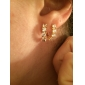 Boucles d'oreilles en or 18 carats Zircon ER0455 de Xinxin femmes