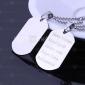 Personlig Present Män smycken militära Card Design Graverad Pendant Halsband med 60cm Kedja