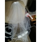 Two-tier Elbow Wedding Veil With Pencil Edge