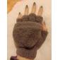 catifea coral jumătate de deget flip-mănuși de cald pentru femei