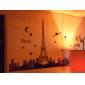vägg klistermärken väggdekaler Eiffeltornet dekorativa lysande klistermärke