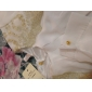gasa de encaje bordado de las mujeres blusa informal