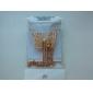 U7 vintage g mönster kvinnors hängande örhängen ställa 18k guld platina strass sätter kvinnor