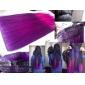 Hög temperaturtålighet Tvåfärgad 20 tums lång rak 5 Clip peruk Extension 11 färger tillgängliga
