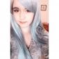 Cosplay Peruker Sword Art Online Asuna Yuuki Blå Lång Animé Cosplay Peruker 85 CM Värmebeständigt Fiber Kvinna