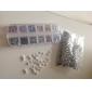 20PCS 3D Vit Resin STRASS Bowknot nageldekorationer