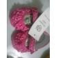Baby skor - Formellt - Bomull - Platt sko - Korallröd
