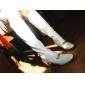 Homme-Habillé-Noir / Rouge / Blanc / Beige-Gros Talon-Bottes à la ModeCuir Verni
