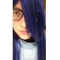 Naruto Shippuden Hinata Hyuga cosplay perruque bleue de partie longue perruque