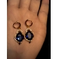 Boucles d'oreilles en or 18 carats Zircon ER0457 de Xinxin femmes