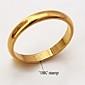 U7 högkvalitativ 18k chunky guld fylld ring klassiska enkla med 18k stämpel