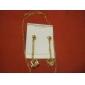 Weimei kvinnors temperament strass kristall kvadrat elegans mode halsband örhängen kostymer