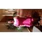 Linia -A Pe Umăr Mini / Scurt Șifon Petrecere Cocktail Petrecere Nuntă Rochie cu Drapat Ruching Broșă Cristal de TS Couture®