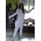 Kigurumi Pyjamas Tiger Leotard/Onesie Halloween Animal Sovplagg Svart/Vit Lappverk Polar Fleece Kigurumi Unisex Halloween