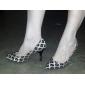 chaussures pour femmes pompes bout pointu talon aiguille ol style tricot chaussures plus de couleurs disponibles