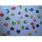 färgglada Ocean Life tema magneter (12-pack)