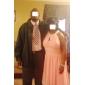 Homecoming Bridesmaid Dress Knee Length Chiffon A Line Jewel Party Dress
