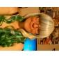 lolita paryk inspireret af lynlås elflord gyldne og grønne blandet farve 75cm cosplay