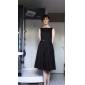 Women's Plus Size Scoop Collar Sleeveless Midi Swing Vintage Dress
