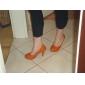 Homme-Habillé-Noir Jaune Orange-Gros Talon Plateforme-A PlateauSimilicuir