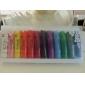 12-Color 3D Akryl Nail Art Painting Pigment Kits