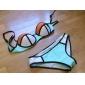 Pentru femei Poliester Nailon Sutiene cu Întăritură Cu Susținere,Bikini Sport Monocolor