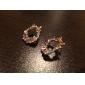 lyckliga docka kvinnors 925 silvering färgad diamant båge örat stud
