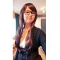 Lady Woman Daily Lovely Långsida Hjälp Synthetic Wavy Peruker 5 färger tillgängliga