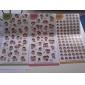 chikdhood tema pvc scrapbooking klistermärke (6 st)
