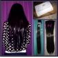 24 pouces 7pcs/set longue agrafe droite synthétique dans les extensions de cheveux avec 16 Clips - 16 couleurs disponibles