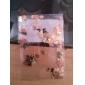 200st söt fjäril metall skiva gyllene nagel konst dekoration