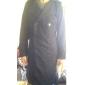 romeo för män enfärgad kavajslag hals dubbla bröst tweed coat