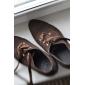 Chaussures de danse(Noir Marron Rouge) -Non Personnalisables-Talon Bobine-Daim-Moderne Salon